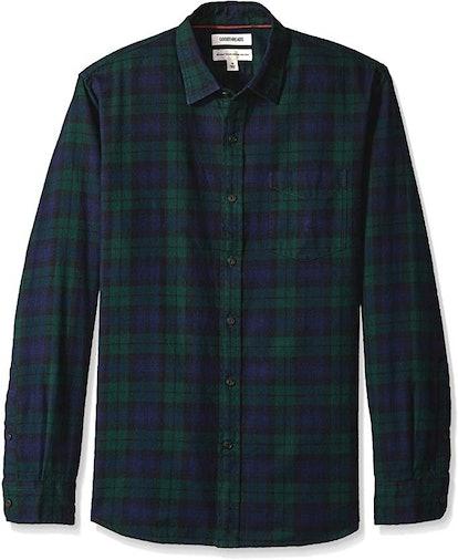 Goodthreads Men's Long-Sleeve Brushed Flannel Shirt