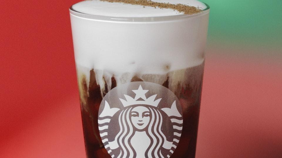 Starbucks Irish Cream Cold Brew is their new festive drink.