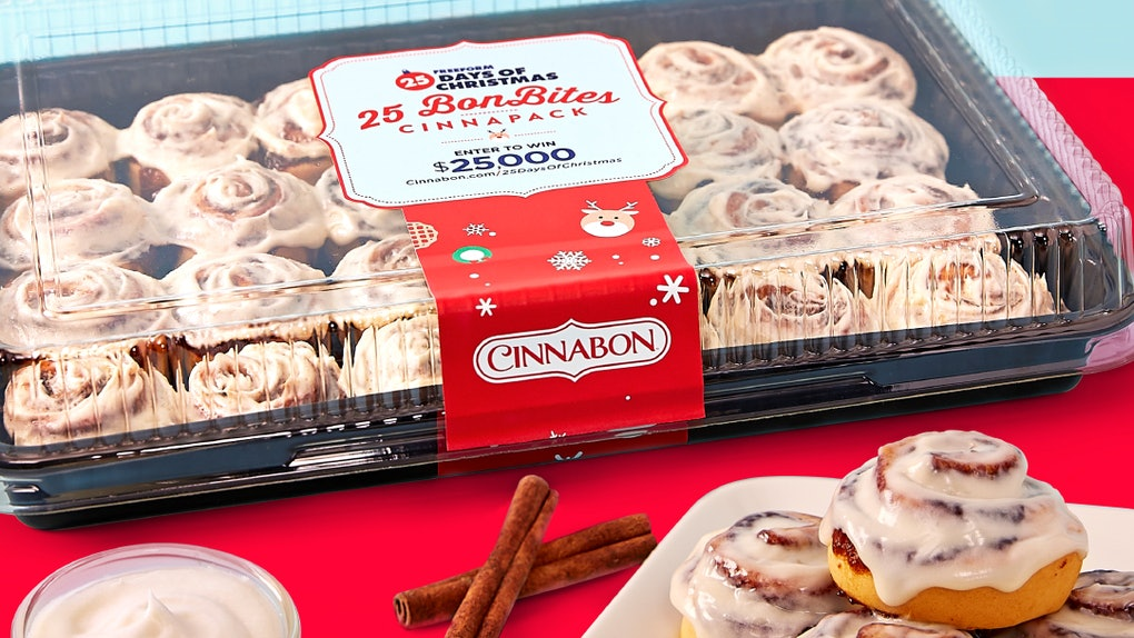 These Freeform 25 Days Of Christmas Cinnabon Bonbites go together with movies perfectly.