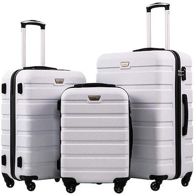 Coolife Hardshell Luggage Set (3-Piece)