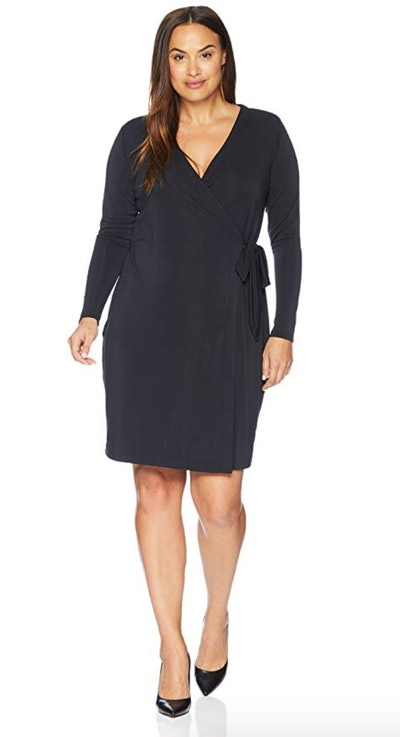 Lark & Ro Women's Plus Size Signature Long Sleeve Wrap Dress