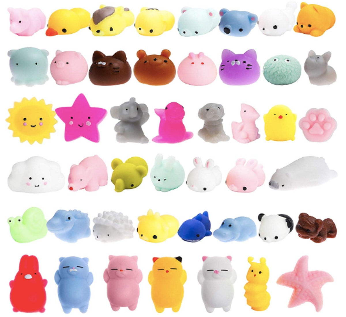 WATINC 40-Piece Mochi Squishies Stress Relief Toys
