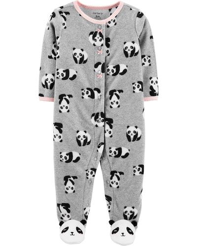 Panda Fleece Snap Up And Play