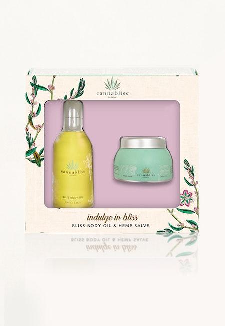 Bliss Body Oil & Hemp Salve Gift Set