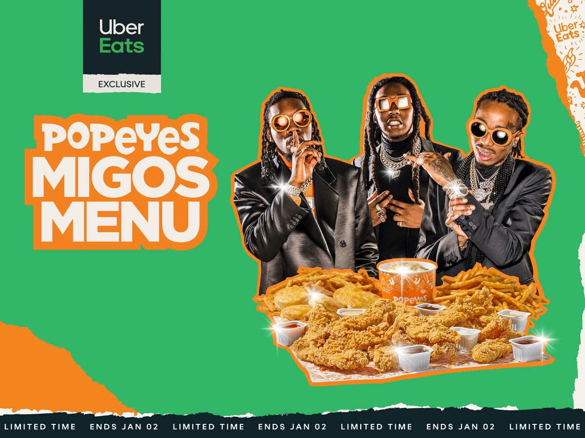Popeyes' Migos Menu Includes All The Tenders & Biscuits you could ever want.