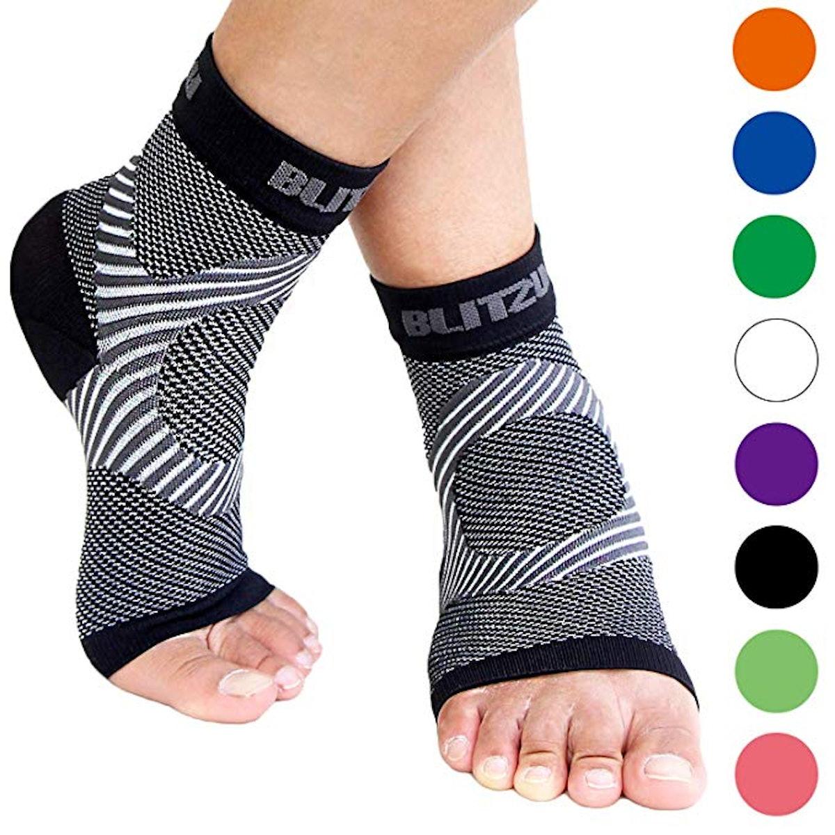 BLITZU Plantar Fasciitis Socks
