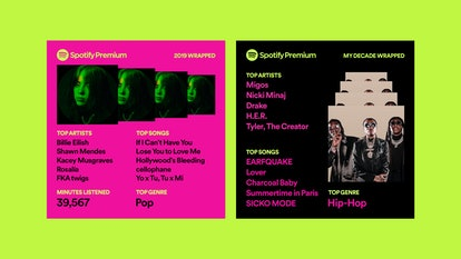 Spotify's 2019 Wrapped and Decade Wrapped playlists are now available.