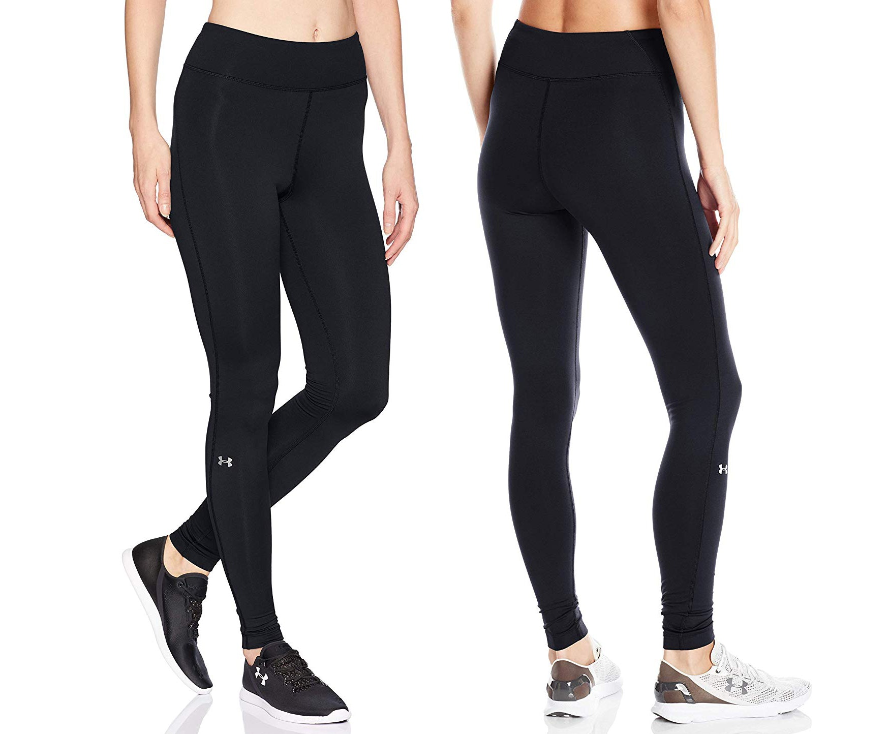 Ladies Baselayer Blue Long Pants Armour Compression Tights Trousers Gym Yoga