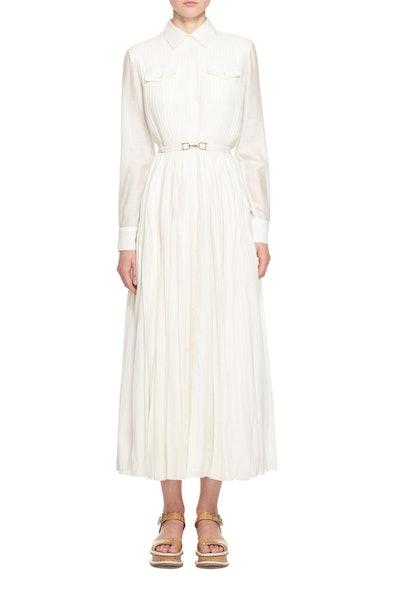 Erella Pleated Shirt Dress