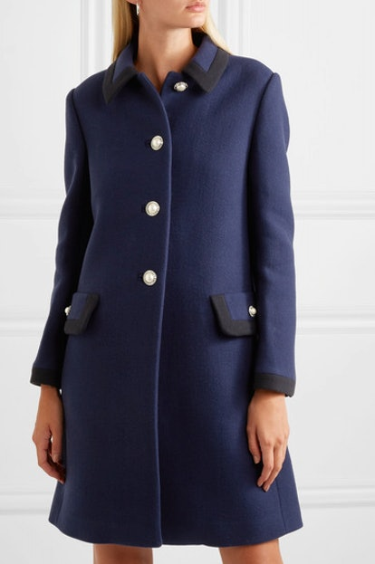 Embellished Wool Coat