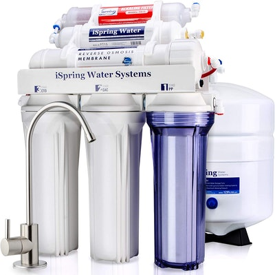 iSpring 6-Stage Under-Sink Reverse Osmosis Drinking Water Filter System