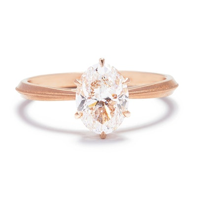 Laurel Solitaire Oval Diamond Engagement Ring