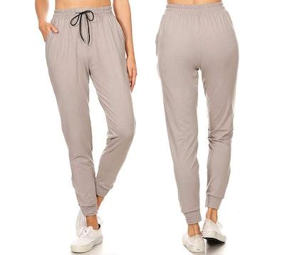 Leggings Depot Women's Solid Activewear Sweatpants