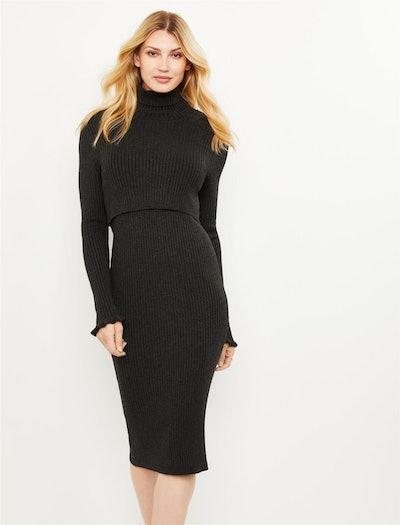 Seraphine Charlize Sweater Maternity and Nursing Dress