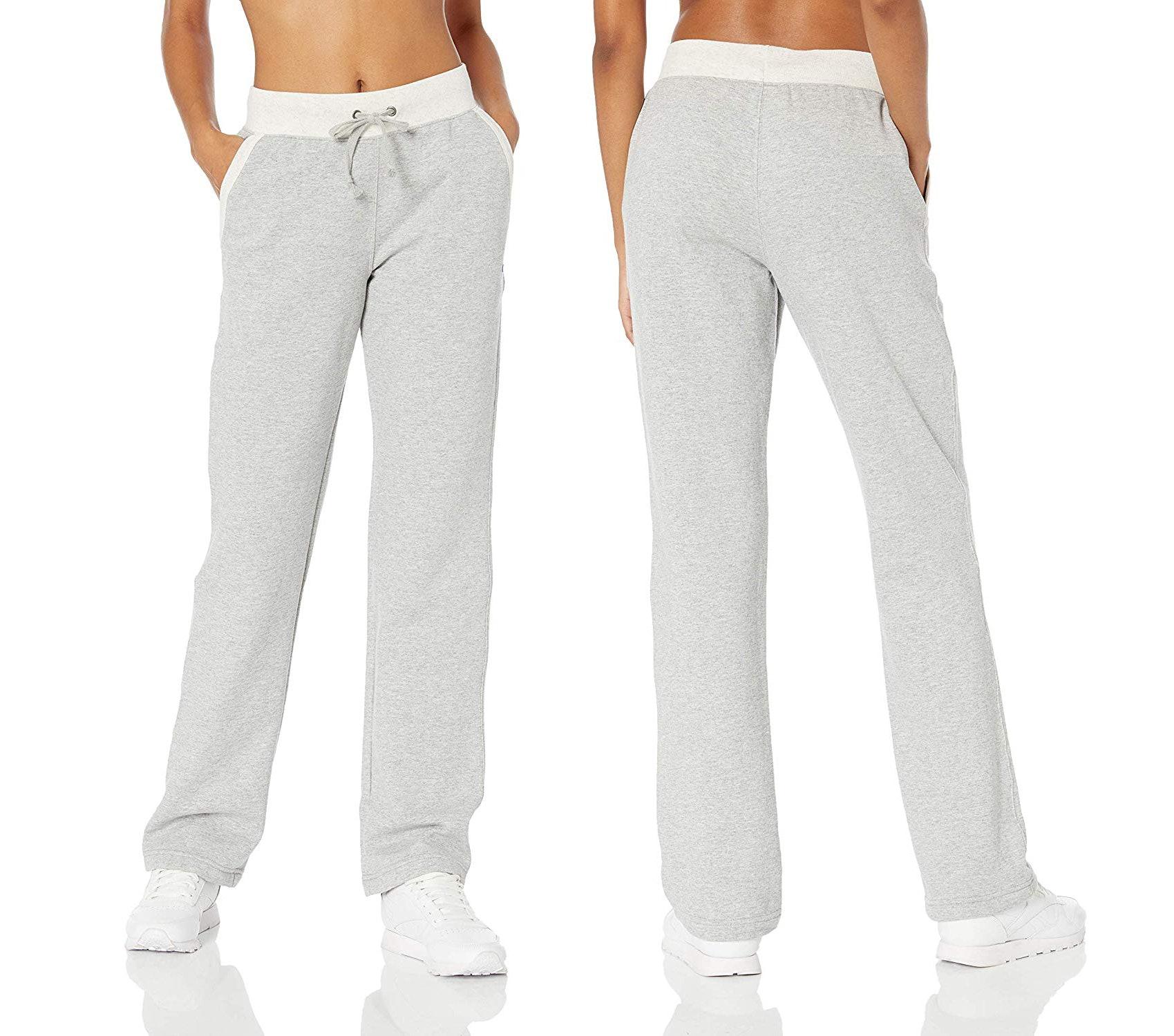 Champion Sweats Athletic Pants Boys Large Black Open Bottom