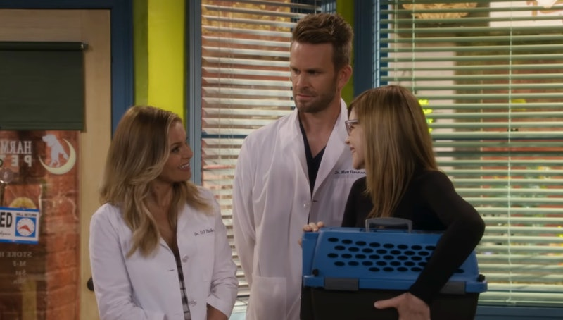 Candace Cameron Bure as D.J., John Brotherton as Matt, and Lisa Loeb in Fuller House Season 5