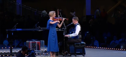 Hosanna Plath and Timothy Noble perform at the 2019 National Quartet Convention.