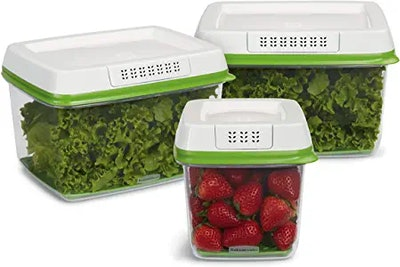 Rubbermaid FreshWorks Produce Saver Food Storage Container (Set of 3)