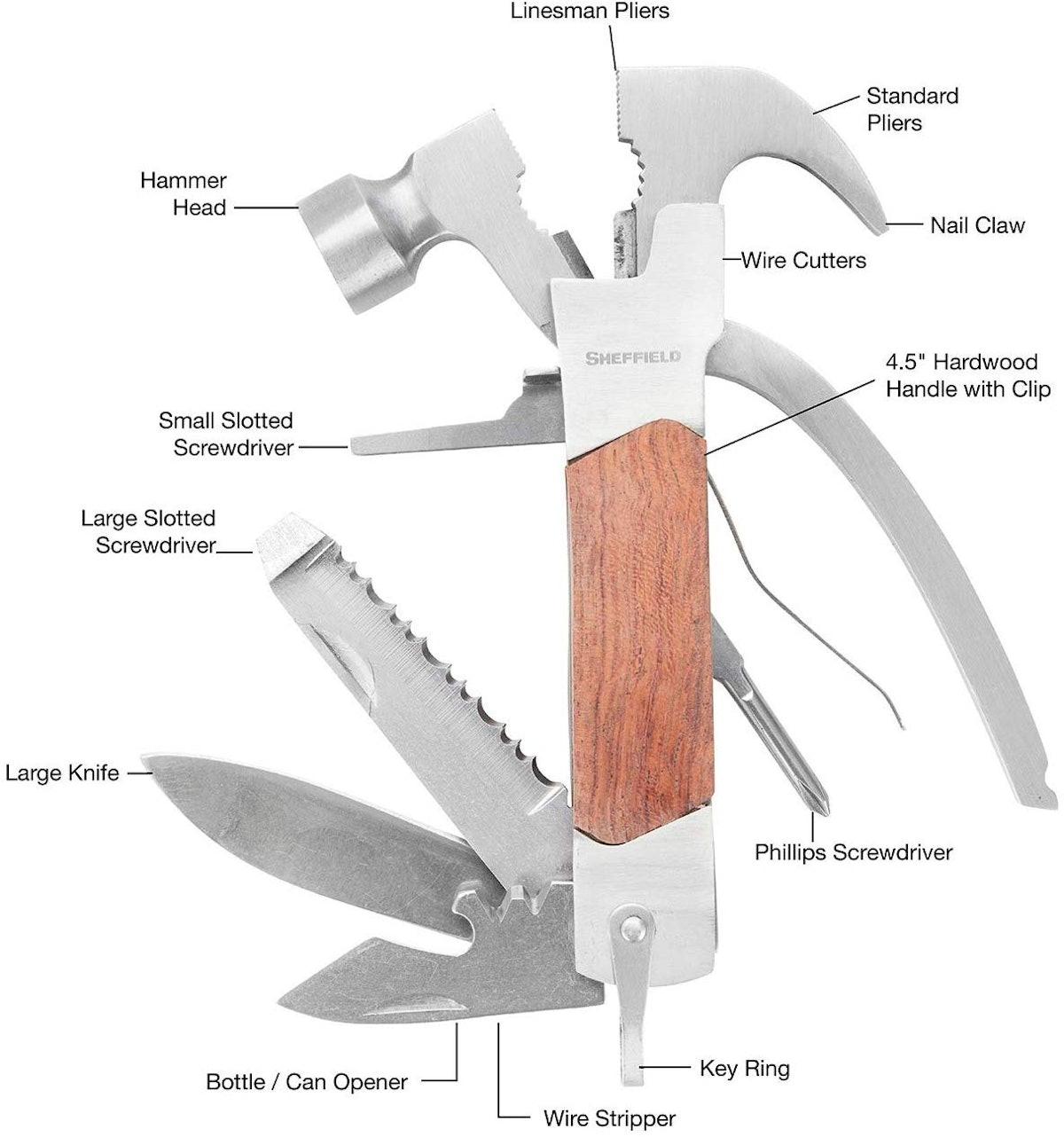 Sheffield Premium 14-in-1 Hammer Tool