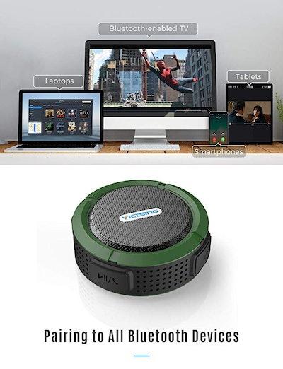 Victsing Outdoor Waterproof Bluetooth Speaker