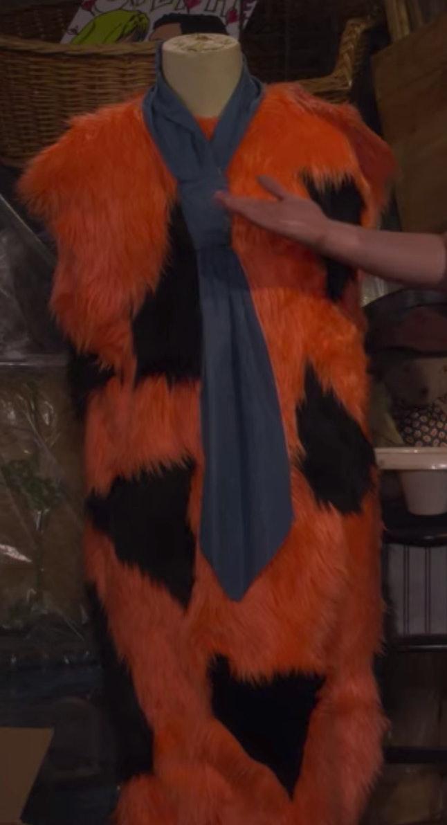 A Fred Flintstone costume on Fuller House