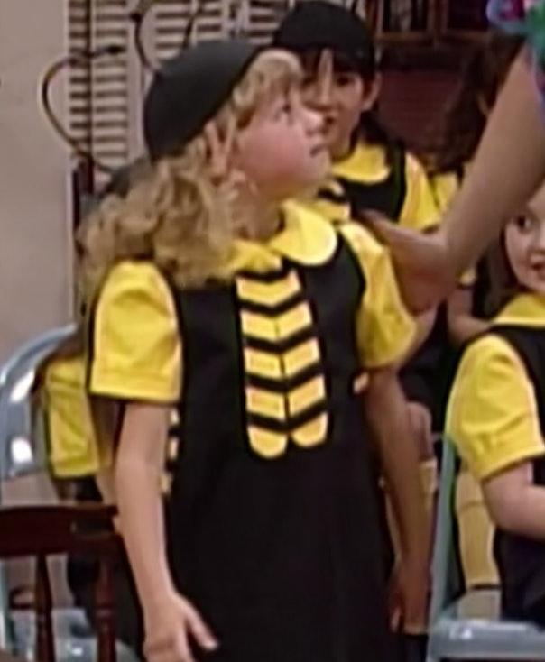Stephanie in a Honeybee costume on Full House