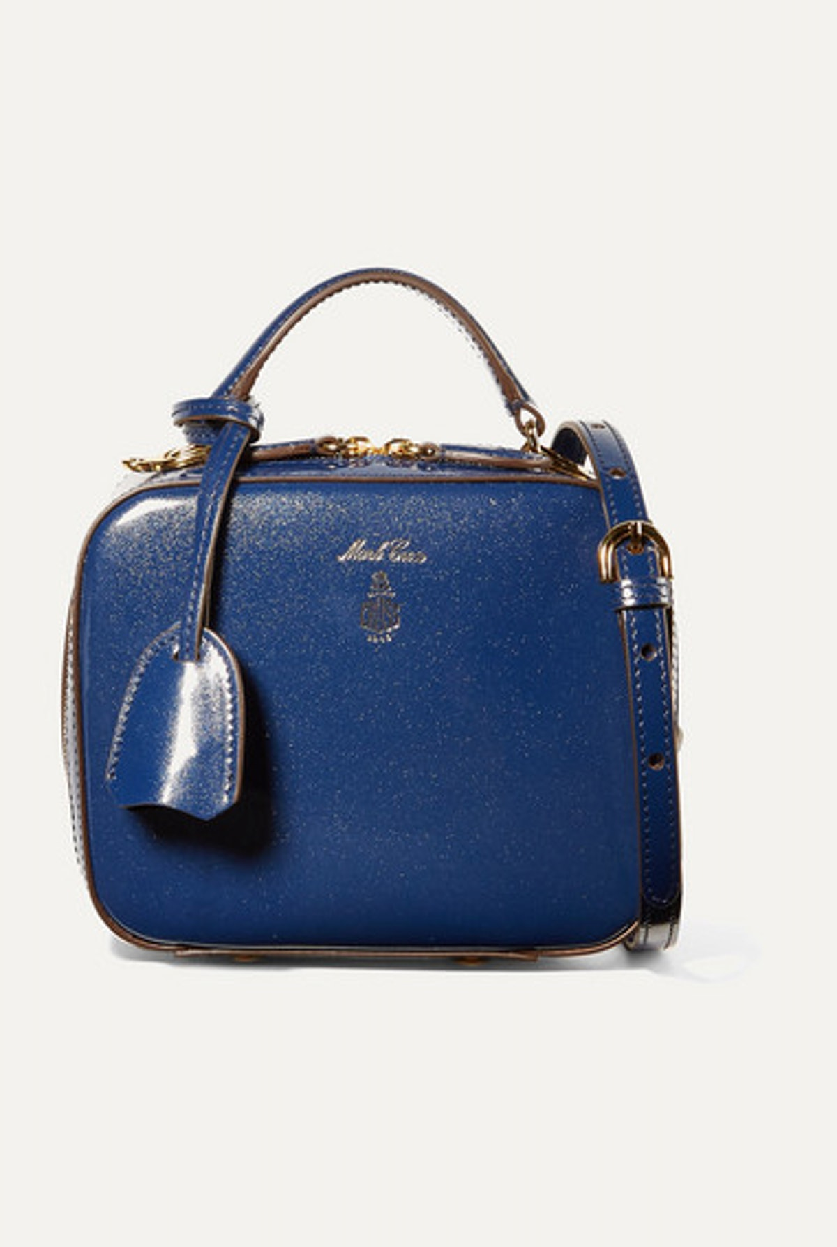 Baby Laura metallic patent-leather shoulder bag