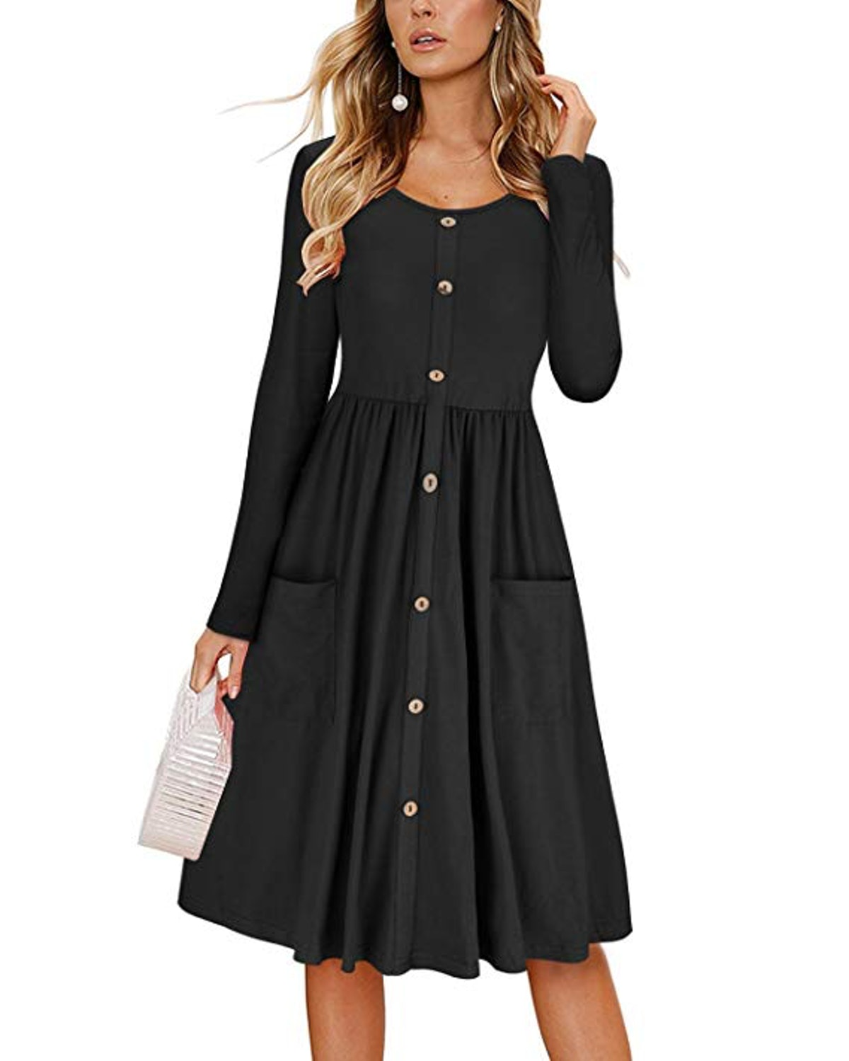 KILIG Women's Button-Down Dress With Pockets