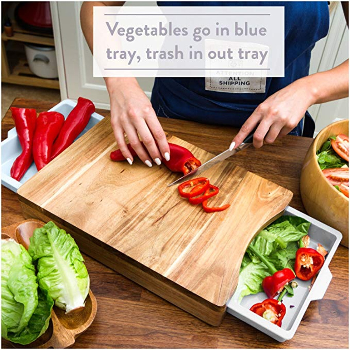 Chopping Board with Tray