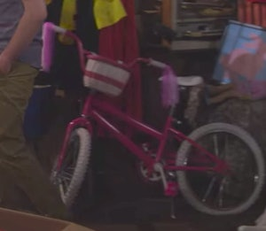 Michelle's bike in the attic on Fuller House