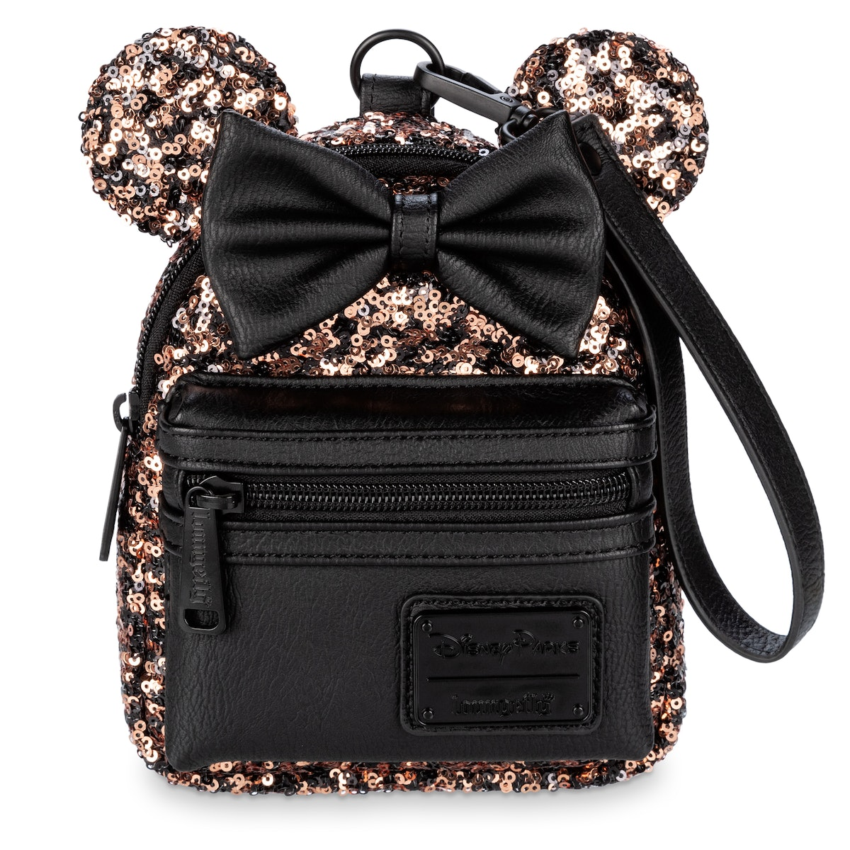 Disney's Belle Of The Ball Bronze Collection includes a mini backpack and a wristlet.