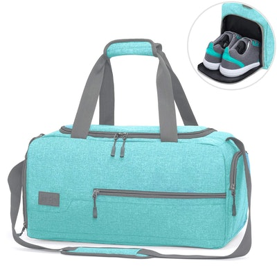 MarsBro Water-Resistant Travel Weekender Duffel Bag With Shoe Compartment
