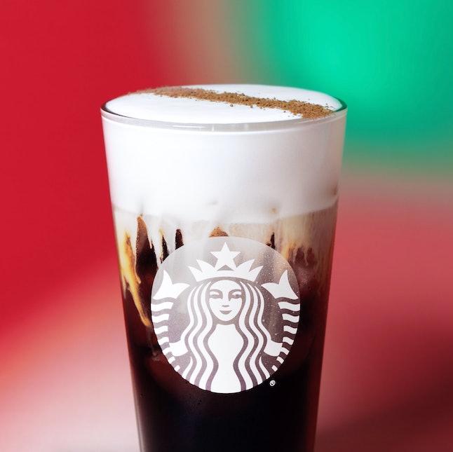 Add Irish Cream syrup to your favorite Starbucks holiday drink.
