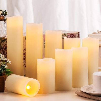 Enpornk Flameless Candles (9-Piece Set)