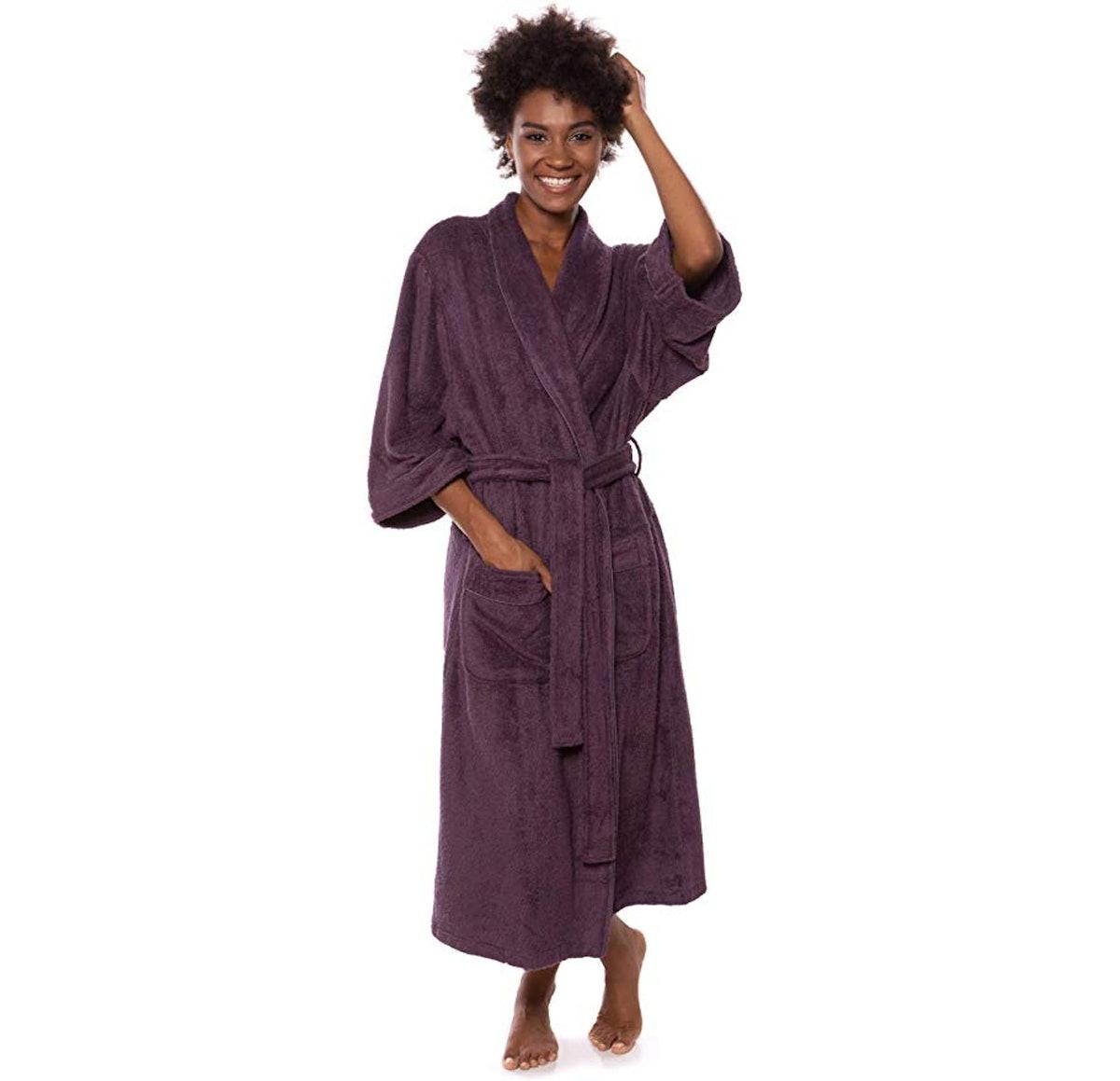 TexereSilk Terry Cloth Bamboo Viscose Robe