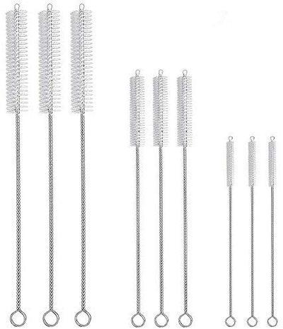 Hiware Drinking Straw Cleaning Brush Kit (9-Pack)