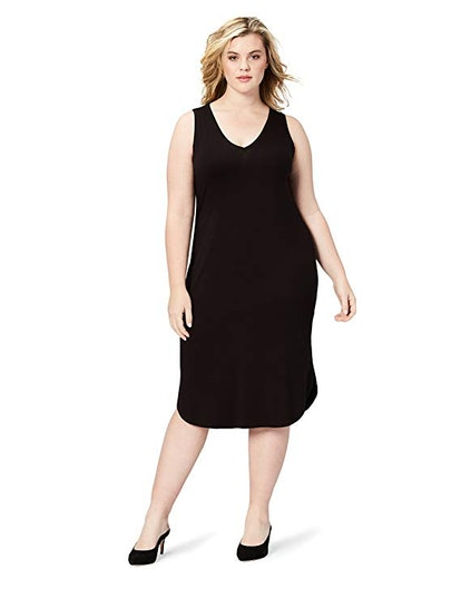 Daily Ritual Women's Plus Size Jersey Sleeveless V-Neck Dress