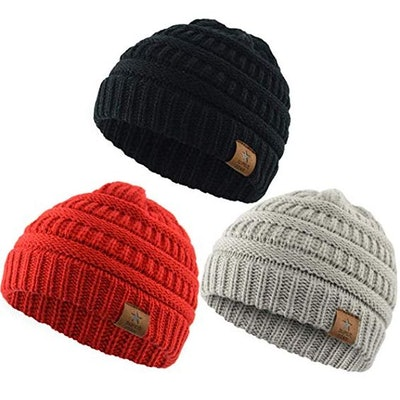 Century Star Christmas Beanie Baby Knit Hat