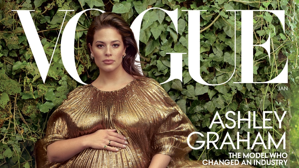 Ashley Graham discussed pregnancy hormones in her new cover story for Vogue.