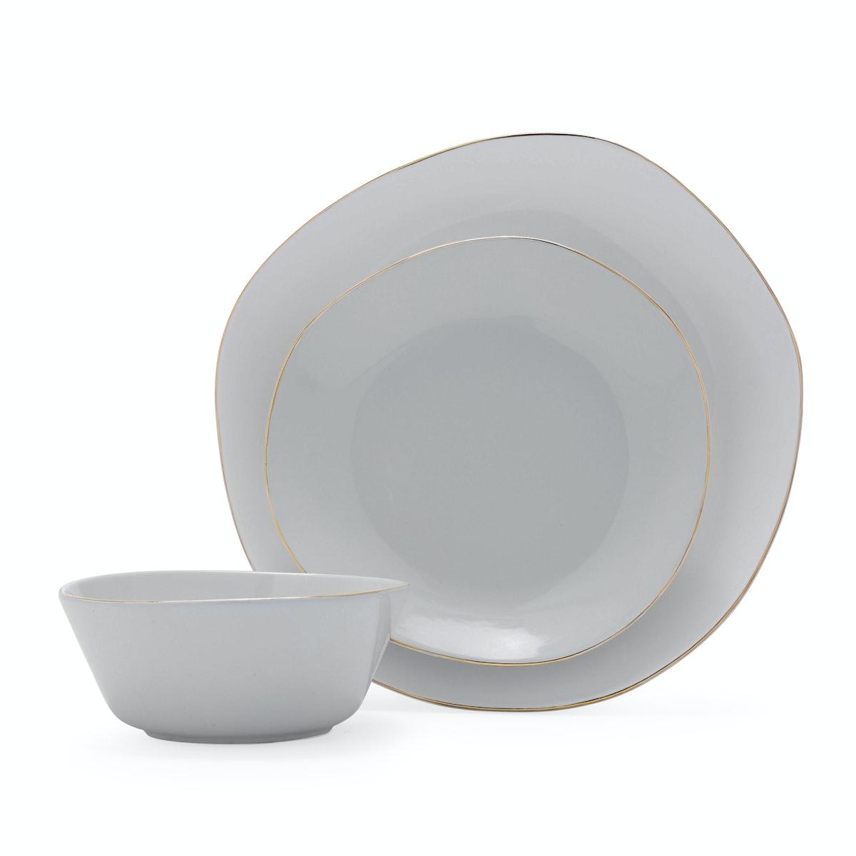 MoDRN Naturals 12pc Dinnerware Set, Smoke