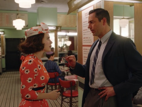 Zachary Levi as Benjamin confronting Midge in The Marvelous Mrs. Maisel Season 3
