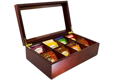 The Bamboo Leaf Wooden Tea Chest