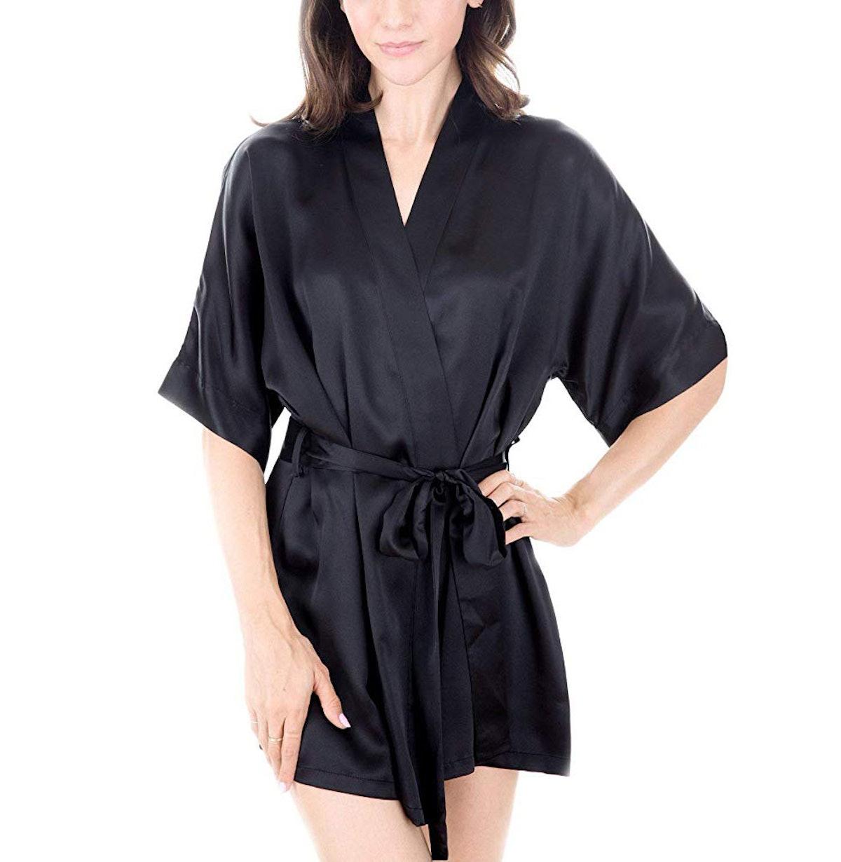 OSCAR ROSSA Luxury Silk Bathrobe