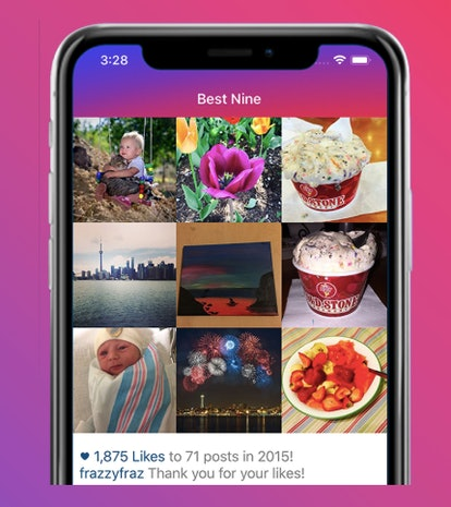 You can get your Instagram Best Nine with the Best Nine app.
