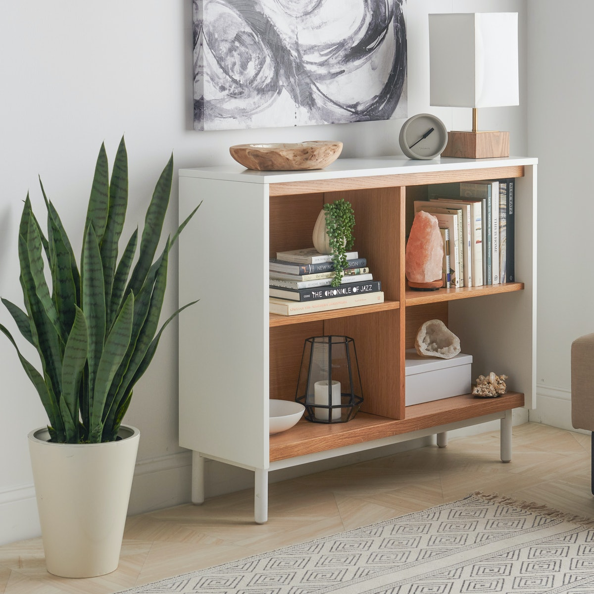 MoDRN Scandinavian Finna Console Bookcase
