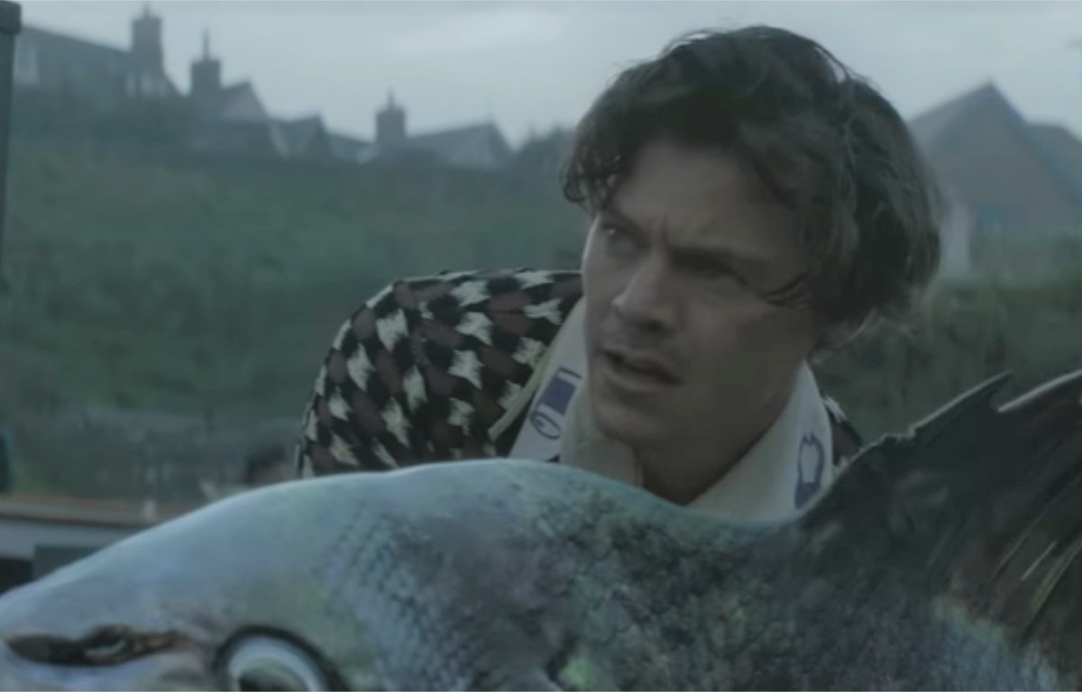 """Harry Styles' """"Adore You"""" music video Is all about a giant pet fish."""