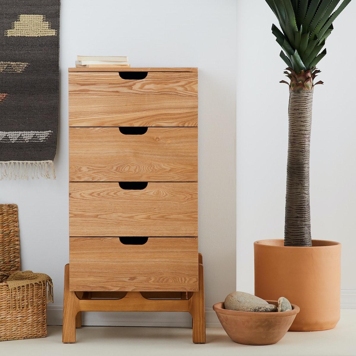 MoDRN Naturals Milo 4 Drawer Tall Dresser