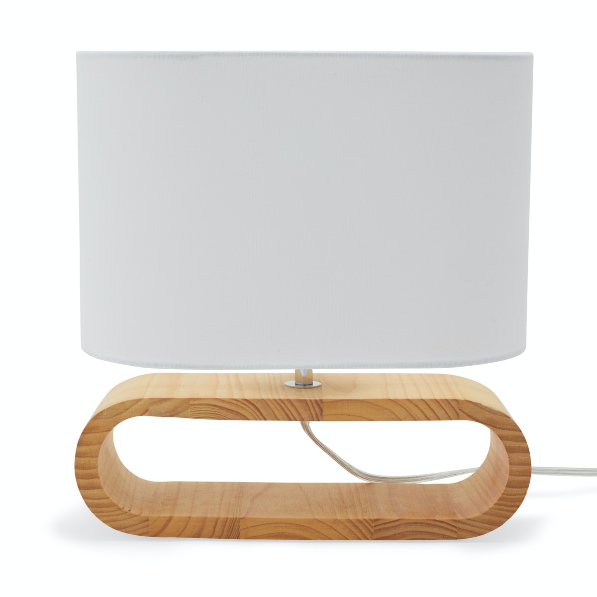 MoDRN Naturals Round Oak Table Lamp