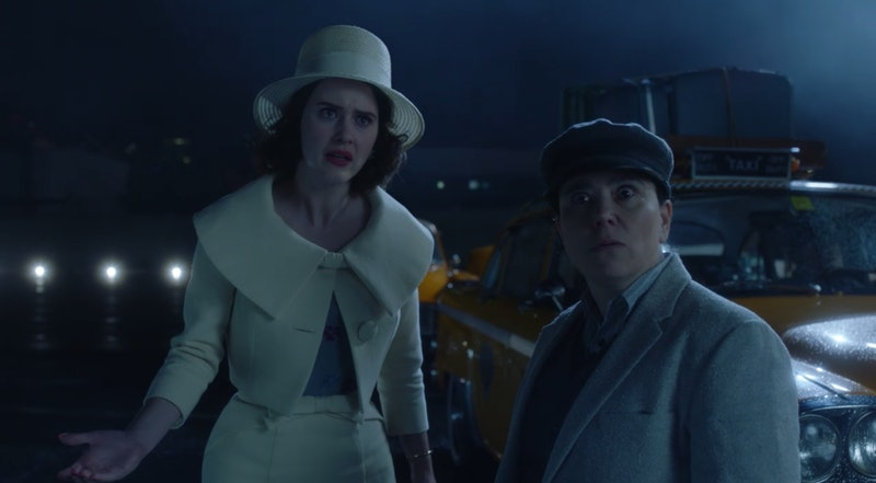 Midge in Marvelous Mrs. Maisel Season 3 after learning Shy Baldwin has booted her from his tour.