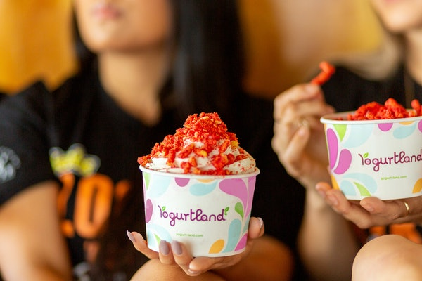 Yogurtland's New Flamin' Hot Cheetos Topping Will Heat Up Your FroYo
